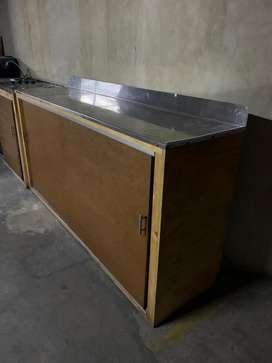 Mueble trabajo meson aluminio