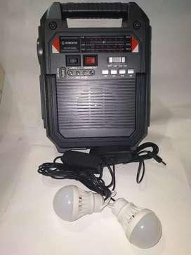 Reproductor USB MP3 Con Panel Solar