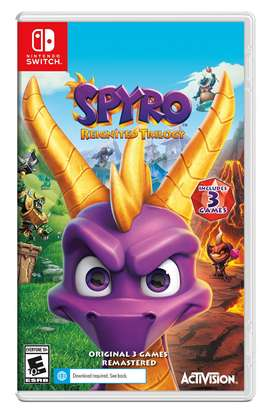 Spyro Reighnited trilogy Nintendo switch