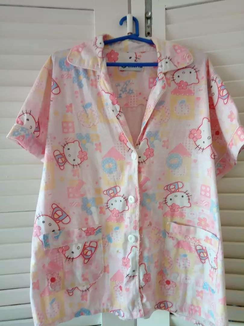 Pijama Camisa Kitty de viyela Talle S/M