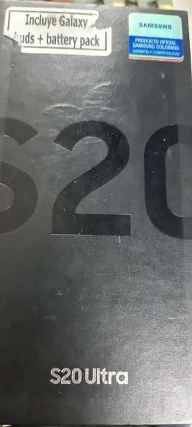 Vendo Samsung S20 Ultra con caja , Cargador Original , Manos libres y factura