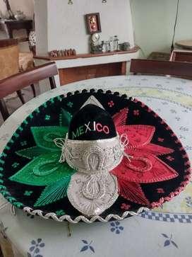Sombrero Mariachi  México gamuza original bordado a mano