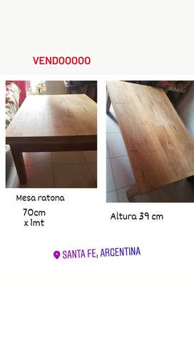Mesa ratona de madera. SOLO RETIRO EN SANTA FE CAPITAL