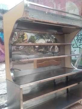 Estante de panadería en acero