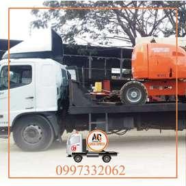 Servicio de gruas plataforma alquiler remolque para auto carro camiones pesado maquinaria montacarga en Guayaquil Grua