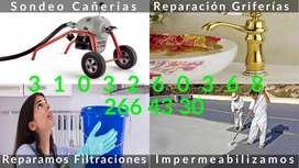 Plomeros en Bogotá, destape de cañerias 3103260368