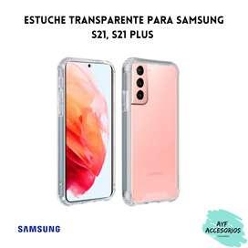 Estuche Para Samsung S21, S21 PLUS Transparente Rígido25000