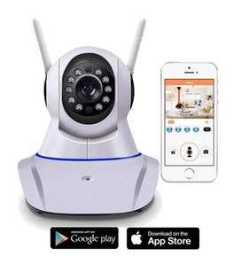Combo 2 Camaras Ip Robotica 2 Antenas Wifi Vision Noctu 720p