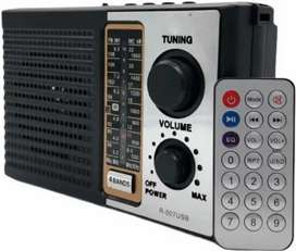 Radio Am Fm Parlante Usb Mp3 Electrico Recargable + Control!