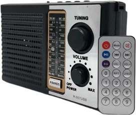 Radio Am Fm Parlante Usb Mp3 Electrico Recargable + Control!
