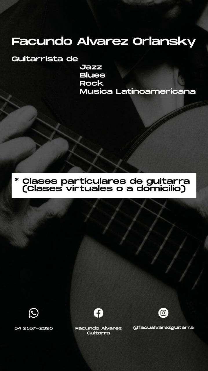 (1era Gratis) Clases de guitarra online y a domicilio !