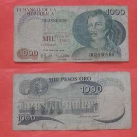 Billete 1000 Pesos 1 Abril 1979 Circulad