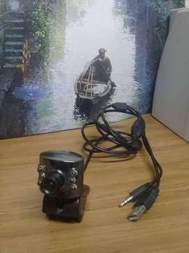 Webcam Cámara Web Micrófono Videollamadas Zoom Skype $ 4500