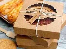 Caja de pay de manzana y tortas