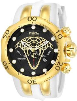 Reloj Hombre Invicta Venom Reserve Suizo Dorado Blanco 24066