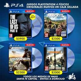 Juegos PS4 Físicos Blu-ray Originales