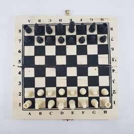 Juego de ajedrez portátil para niños y adultos plegable de madera