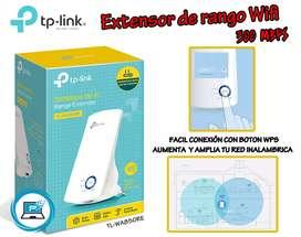 Extensor de rango wifi TPLINK 300Mbps