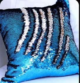 Funda para almohada con lentejuelas reversibles