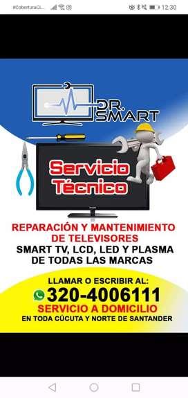 Servicio Técnico y Reparación de Televisores, Smart Tv, LCD, LED y Plasma