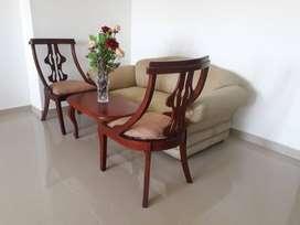 Juego de muebles para sala en madera