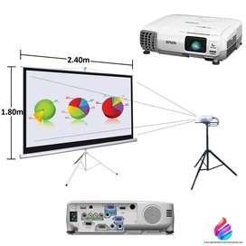 Alquiler Video Beam Televisores Proyector Portátil Telón Pantallas