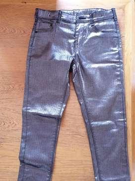 Pantalón Niña Metalizado