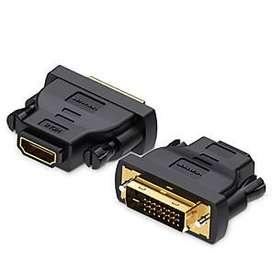 Conector DVI a HDMI / Adaptador (DVI 24 + 1) y (DVI 24 + 5)