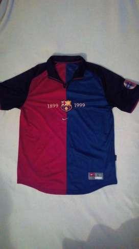 Camiseta Barcelona 100%original Centenario Temporada 1999-2000
