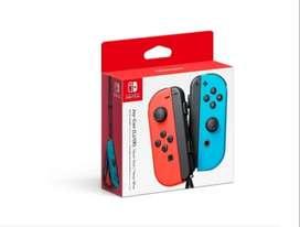 Nintendo Joy-con Controllers Neon Red Blue Joystick Nuevo