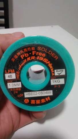 Estaño 1Kg de 1mm  60/40