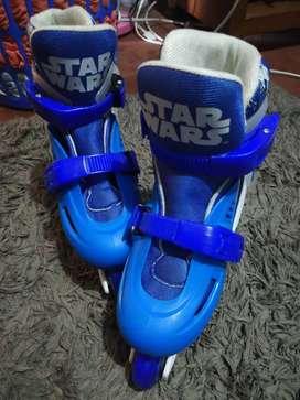 Vendo patines para niño saga Star Wars