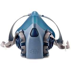Respirador De Media Cara Silicona 7502 / 37082 (3M) + 2 Filtro P100