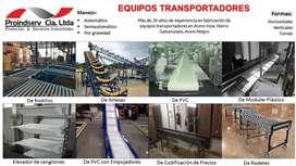 Bandas Transportadoras, Nervadas, Transmisión, Sintéticas, PVC, CAUCHO