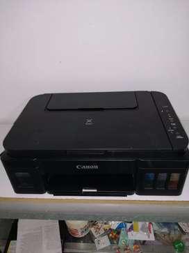 Gangazo, CANON PRIXMA G 2100 impresora, escaner, fotocopiadora, multifuncional, tiene sistema continuo integrado.