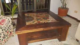 Mesa en madera centro de sala