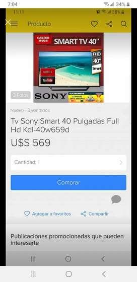 Smart tv sony full hd 40 pulgadas