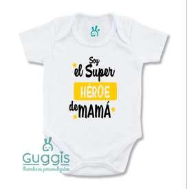 Mameluco Bebe Soy El Super Heroe De Mama