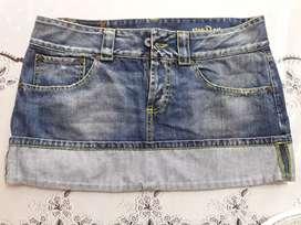 Minifalda Jean excelente estado