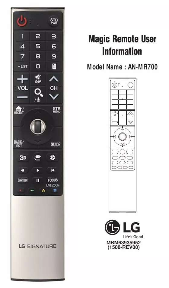 Control Magic Remote Lg Anmr 700 Para Oled E6v G6p E6p G6pu 0