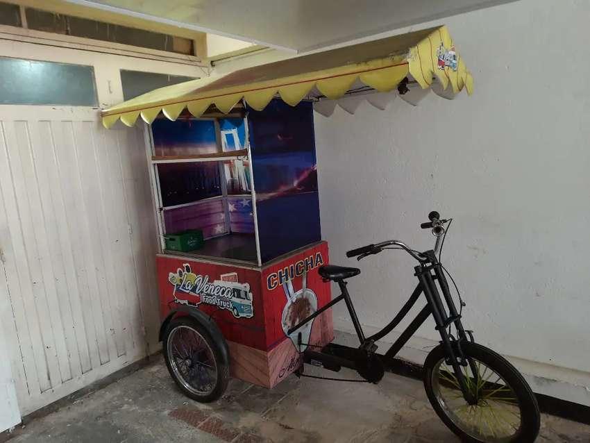 Triciclo - bicicleta 3 ruedas ideal para venta chicha / mazamorra  GUANABANAZO 1 persona a pedal