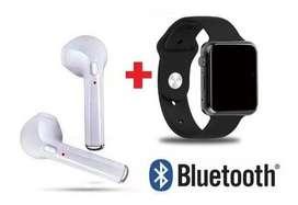 Reloj Inteligente Homologado + Audifonos Bluetooth I7 Combo nuevo