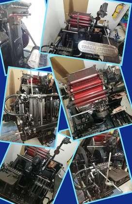 Maquinas Litografícas, una marca Chief 15 115 y una Heidelberg, ambas son de impresión tamaño octavo