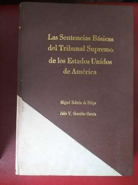 Vendo libro de Sentencias Básicas del Tribunal Supremo de los E.U.A.