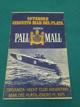 PROGRAMA CARRERA LANCHAS OFFSHORE CIRCUITO MAR DEL PLATA 75 YACHT CLUB