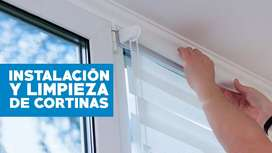 instalación limpieza de cortinas y persianas