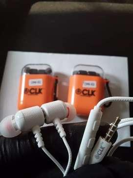 Excelente auriculares CLK de sonido Profesional potente y nítido