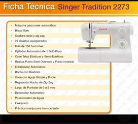 Vendo maquina singer 2273