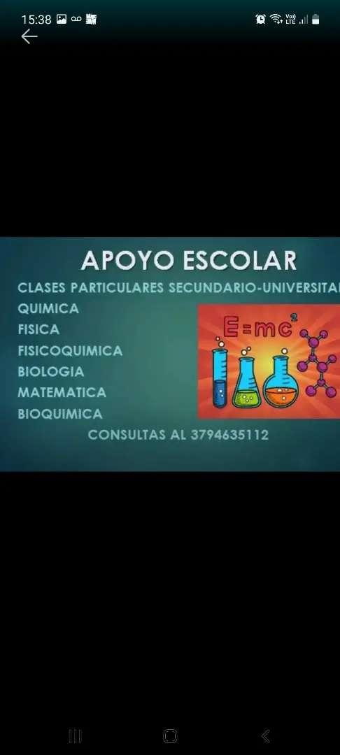 Clases particulares Química Biología Matemática  Bioquímica