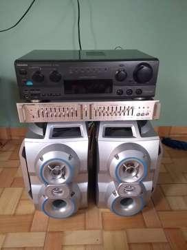 Vendo amplificador tecnnics sa-ax530 con ecualizador y parlantes en 290.000
